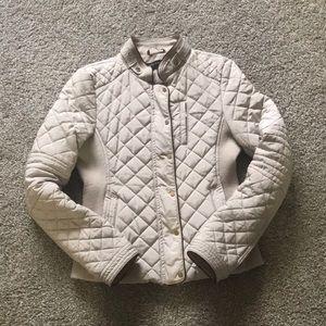 Zara beige quilted jacket